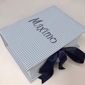 B14C-9-Blue-Gingham-Cotton-Style-151-Navy-Thread