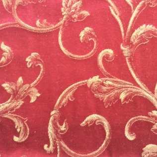 Fabric-Swatch-Brocade-Floral-Red-Brocade