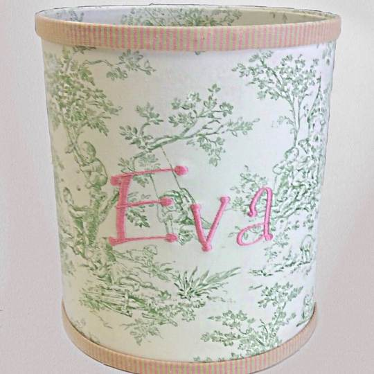 WB-BG-Celadon-Toile-with-Pink-and-Green-Pinstriped-Cotton-Style-151-Baby-Pink-Thread