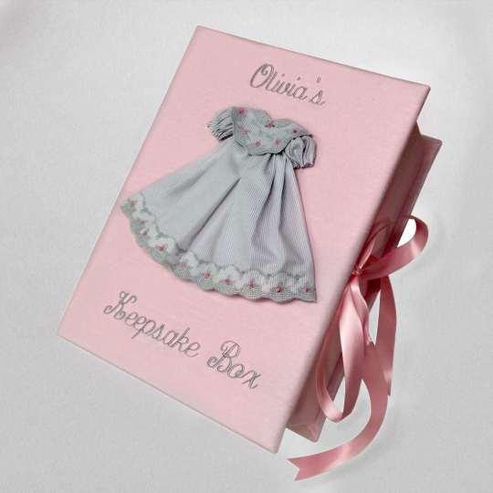 B14C-21-Pink-Shantung-Style-51-Gray-Thread-Olivas-Keepsake-Box