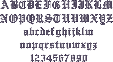 Picture of Old English Font