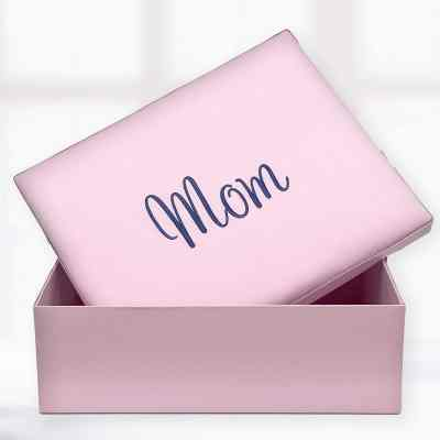 Large Keepsake Box Pink Malibu Poplin