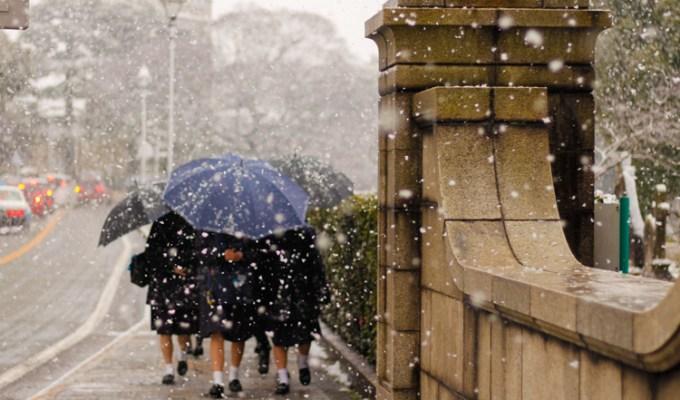 Il neige à Yokohama!