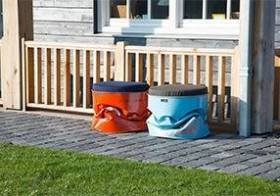 Oliedrums als gave tuinmeubels