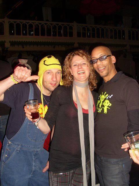 DJ Gino Lightner, me and Sander