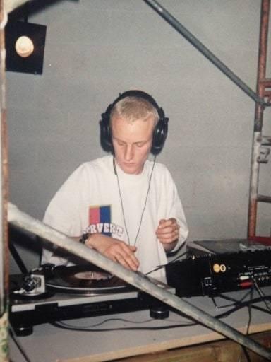 My First gig DJ Rennie Foster as a kid marcelineke