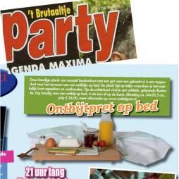 Shopping pagina Weekblad Party