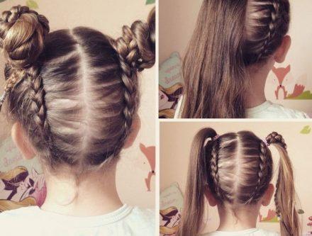 Tresse Petite Fille Cheveux Court