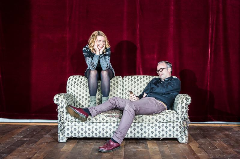 Portret in Nijmegen van Edwin Niemantsverdriet en Sophie Luderer by Marcel Krijgsman