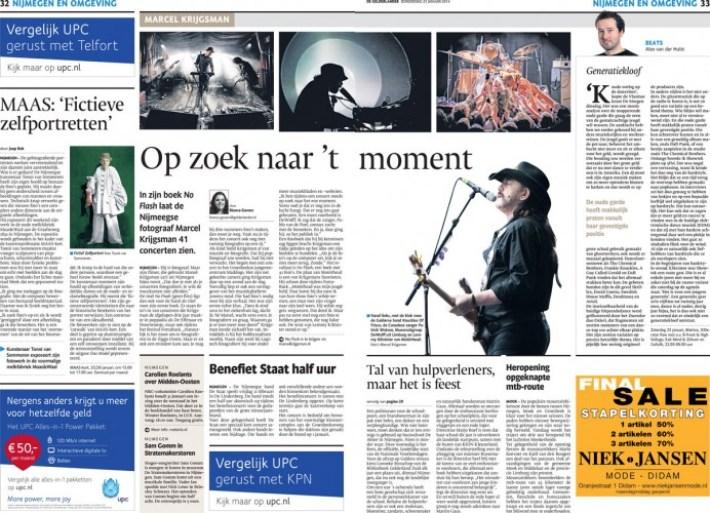marcel krijgsman, Marcel Krijgsman met groot interview in dagblad De Gelderlander