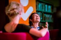 Corporatie fotografie - Interview Griet op de Beeck bibliotheek Nijmegen - Marcel Krijgsman