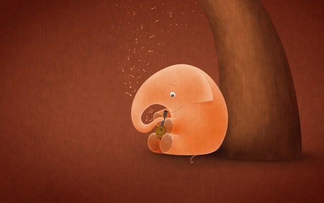 vladstudio_little_elephant_big_ukulele_wallpaper