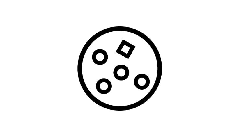 36. Síntesis geométrica básica de una neoplasia (negro sobre blanco).