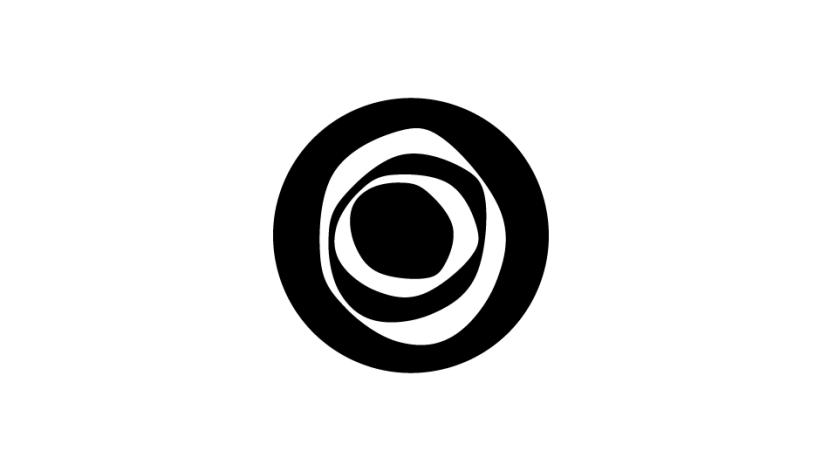 28. Efecto formal distorsivo para crear un signo singular asociado a la oncología (negro sobre blanco).