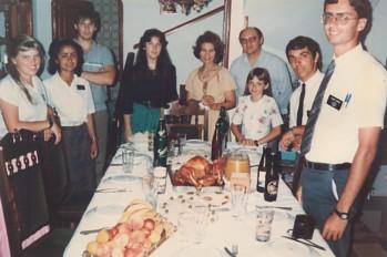 Celebração natalina com a família do presidente da estaca