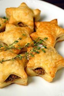 mushroom-pate-filled-filo-pastry-stars