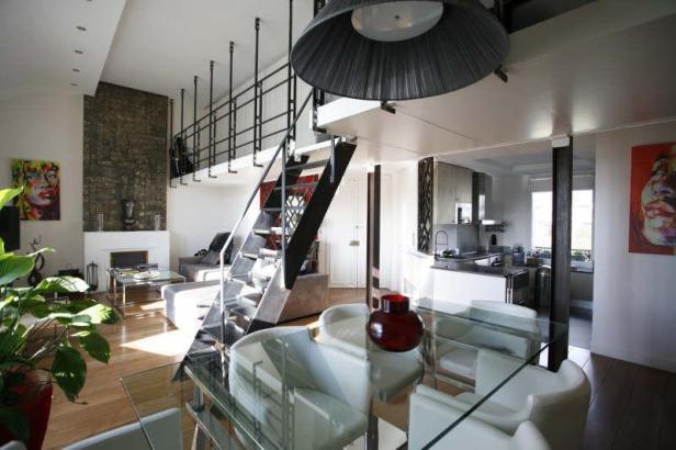 Gros plan sur appartement dernier tage terrasse de style contemporain imm - Appartement atypique paris a vendre ...