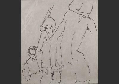 Egon Schiele – Femme au miroir