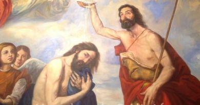 El bautismo en el Jordán-Marchando Religión