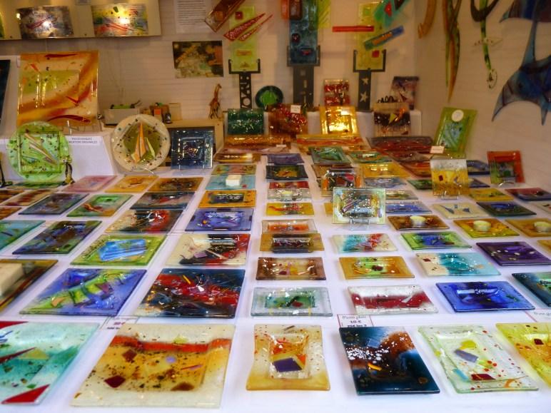 Chalet de verrerie d'art au marché de noël de Nantes