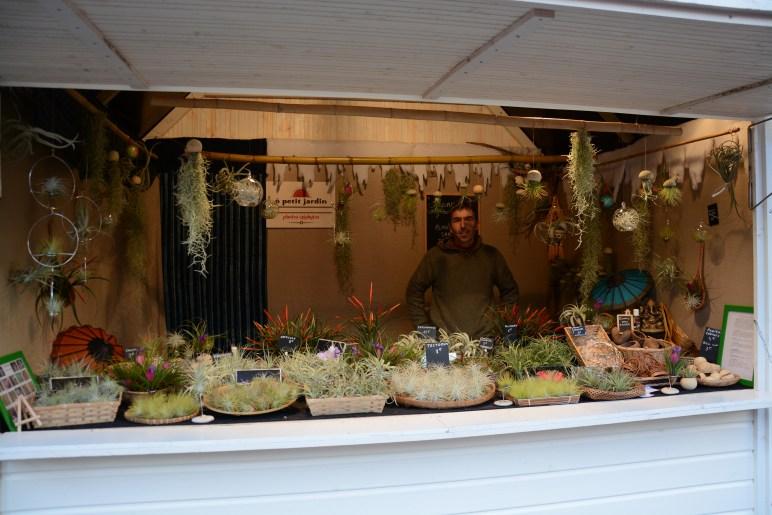 Chalet de plantes sans terre au marché de noël de Nantes