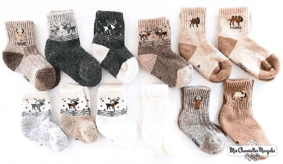 Chaussettes en laines de Mongolie