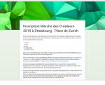 Inscription Marché des Créateurs Place de Zurich 2019 - COMPLET