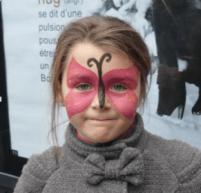 Maquillage pour les enfants sur le Marché de Noël
