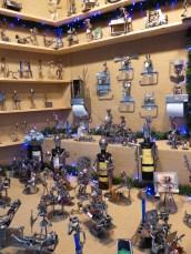 Porte-bouteilles et décoration en métal