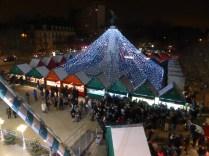 Vue de la Grande Roue de Noël