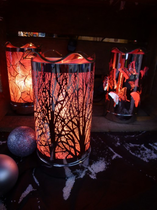 Chalet de lampes diffuseurs sur le marché de noël de Rouen