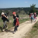 Premiers pas : montée entre le Rouget et Aumont-Aubrac, avril 2013