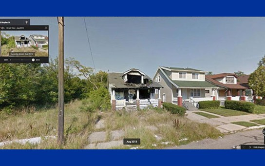 Black Detroit's Collapse Dramatically Captured by Google Streetview 2008–2013