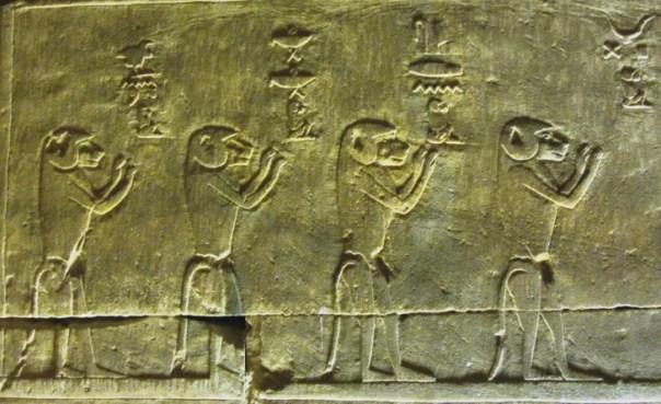 Babuinos en el antiguo egipcio