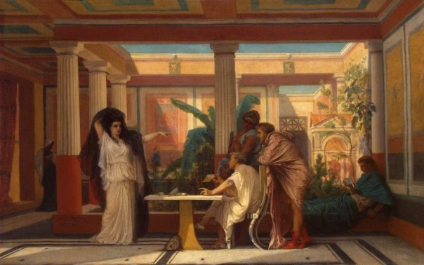 La casa de la antigua roma