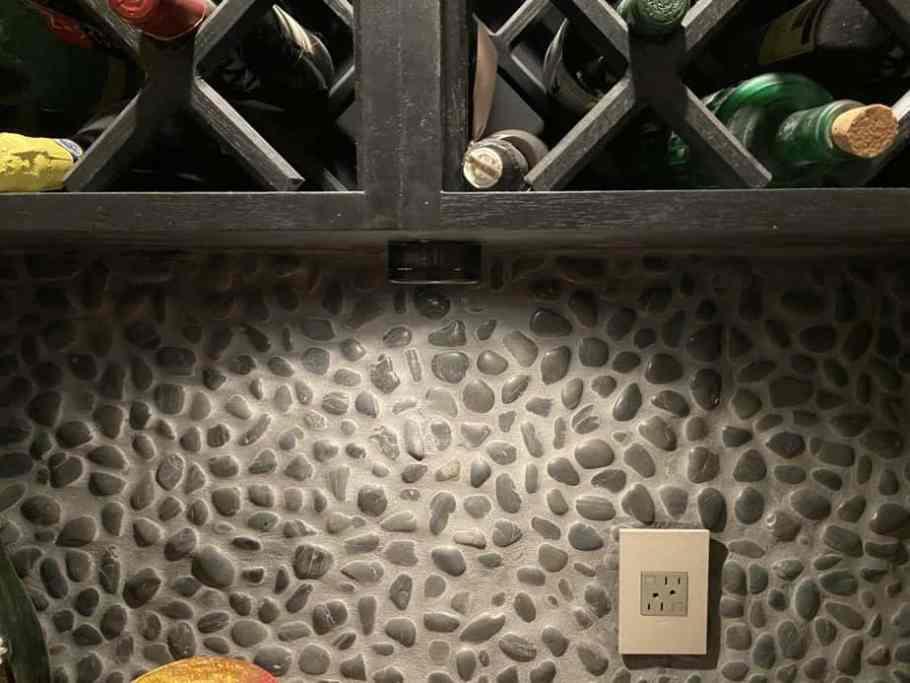 lighting in wine cellar