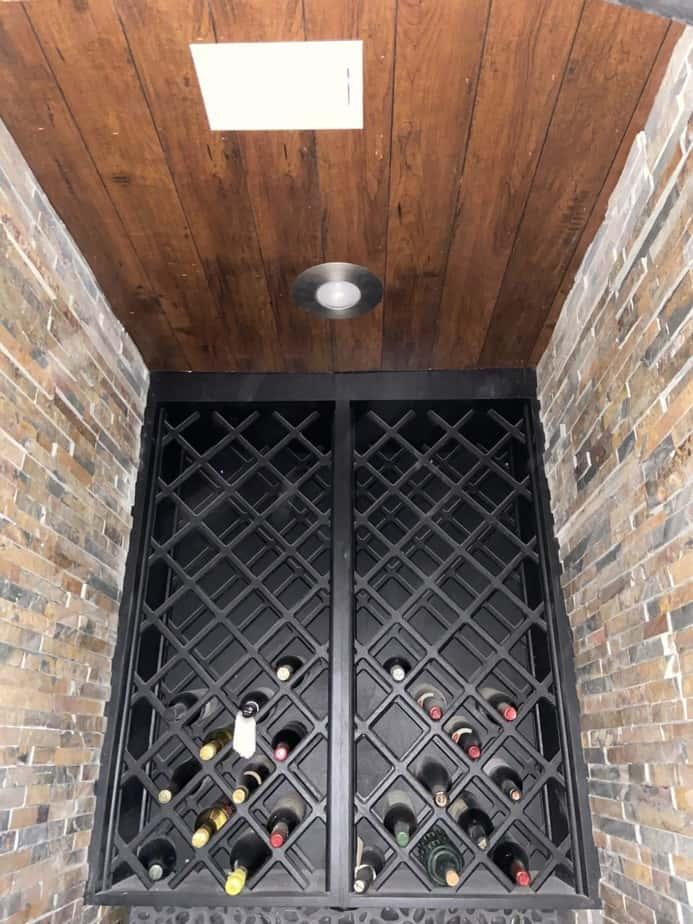 Closet Wine Cellar under construction, ceiling detail