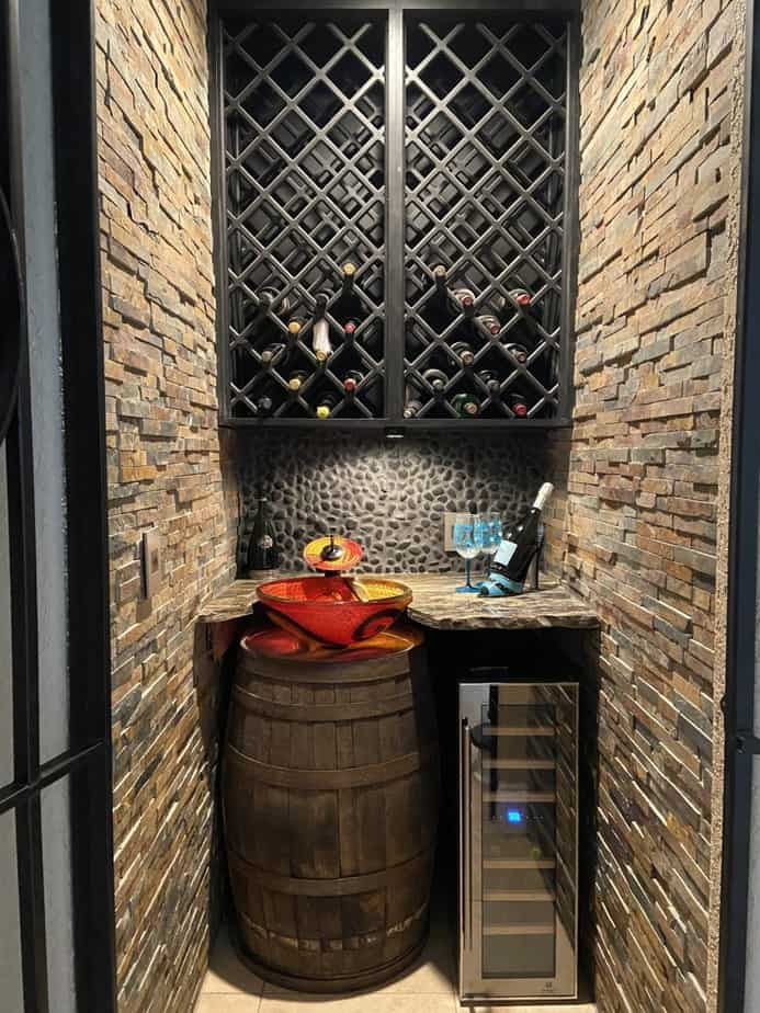 completed wine cellar conversion