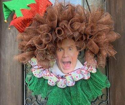 Buddy the Elf Wreath Tutorial