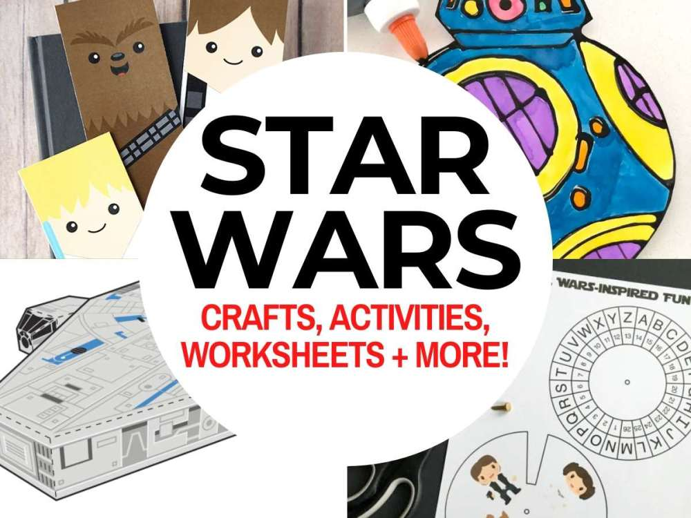 medium resolution of Top 50 Star Wars Crafts \u0026 Activities   Marcie and the Mouse