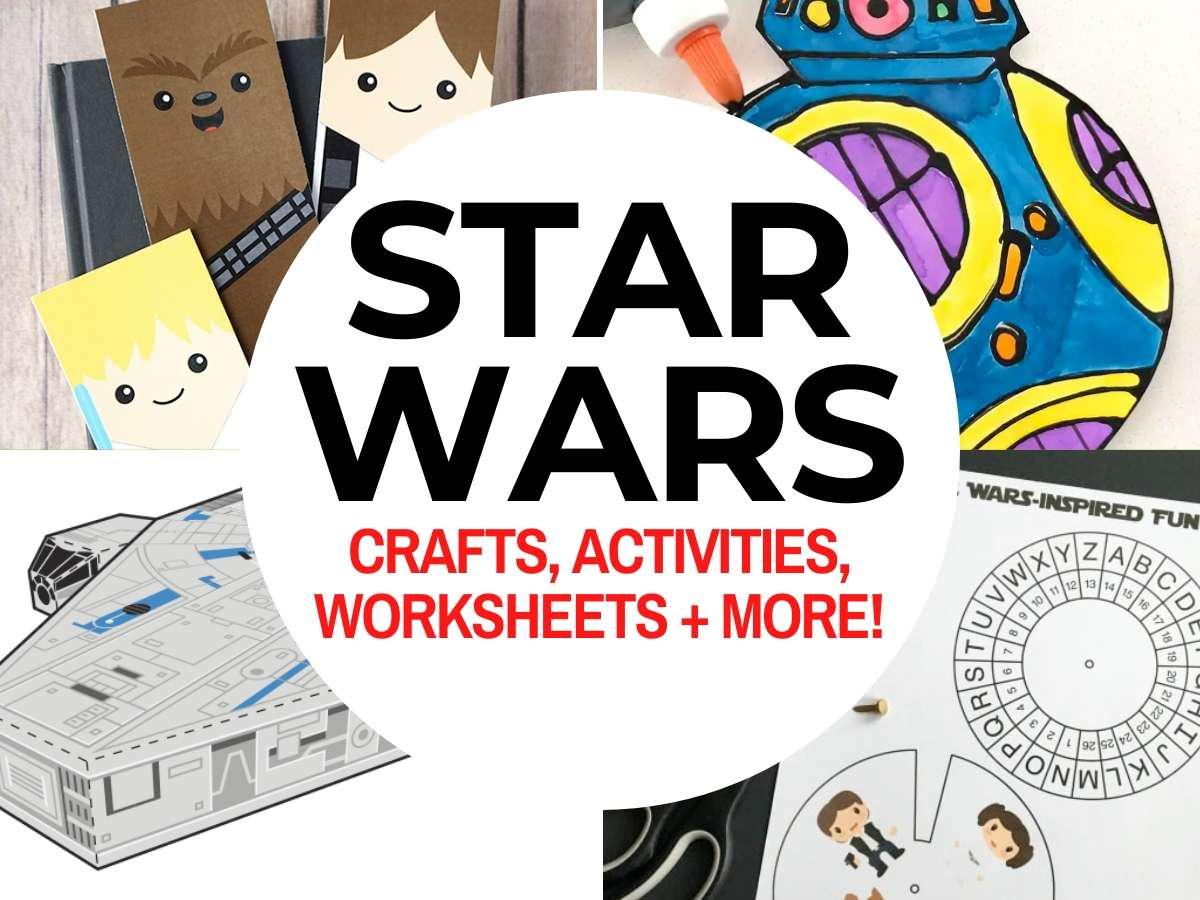 hight resolution of Top 50 Star Wars Crafts \u0026 Activities   Marcie and the Mouse