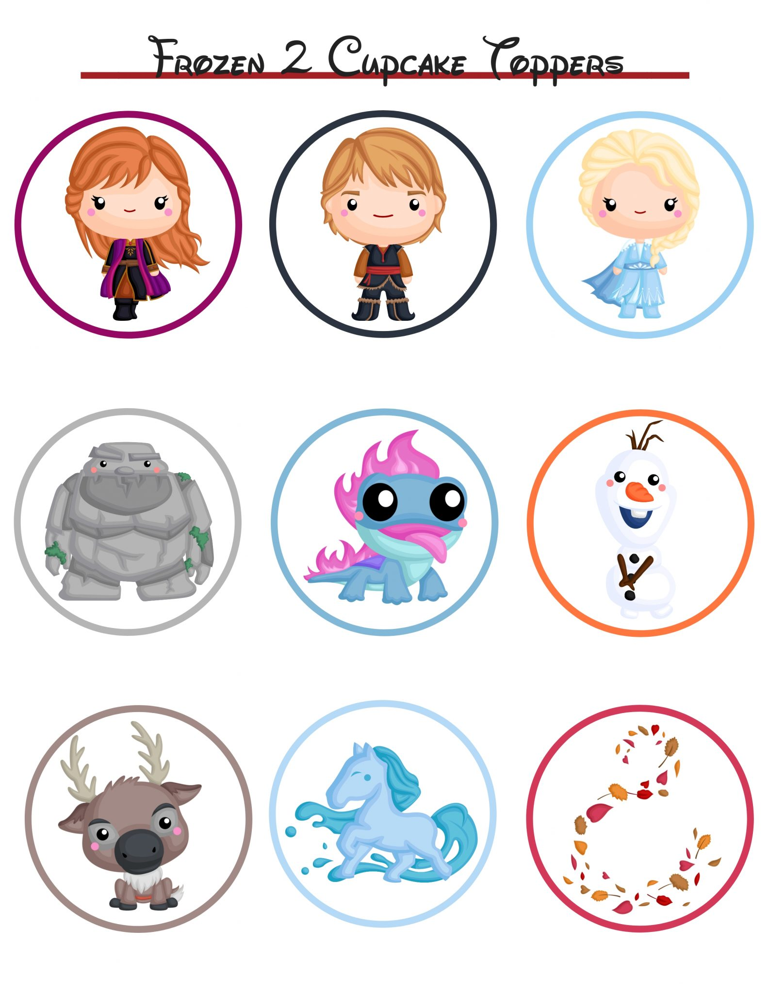 Frozen 2 Cupcake Toppers