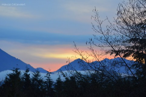 Sunrise over Vancouver Island from Ahousaht
