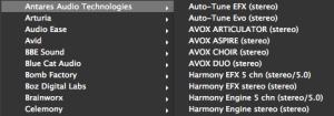 Antares Audio Lista