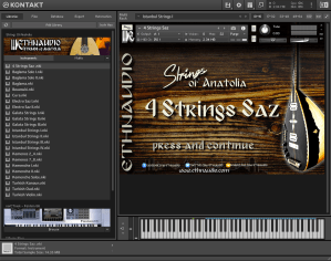 ETHNAUDIO Strings Of Anatolia 2,17 GB ( Cordas Arabes )