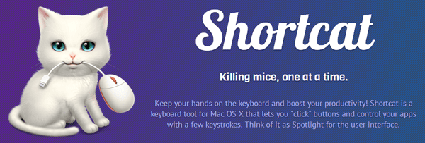 Vous n'aurez plus besoin de votre souris avec Shortcat