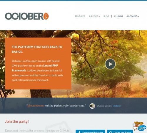 October, un CMS open source basé sur le Framework Laravel