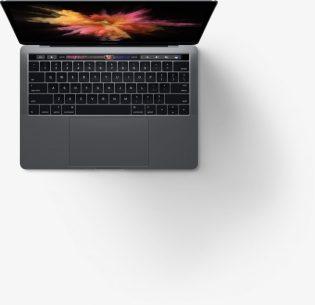 Macbook pro from top