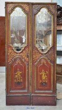 Beautiful antique double door with chinese style decor - Doors
