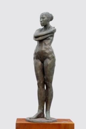Stehende (Elena), 1999/2000, Bronze, H 200 cm
